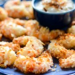 Air Fryer Coconut Shrimp with Piña Colada Dip is a healthy, tropical summer appetizer. Air frying shaves off calories and fat and my version is gluten free. | theeverykitchen.com