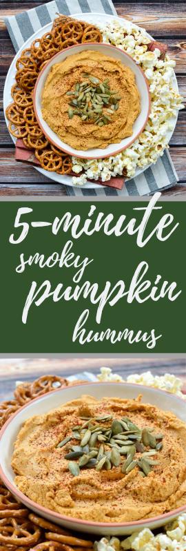 5-Minute Smoky Pumpkin Hummus | www.theeverykitchen.com