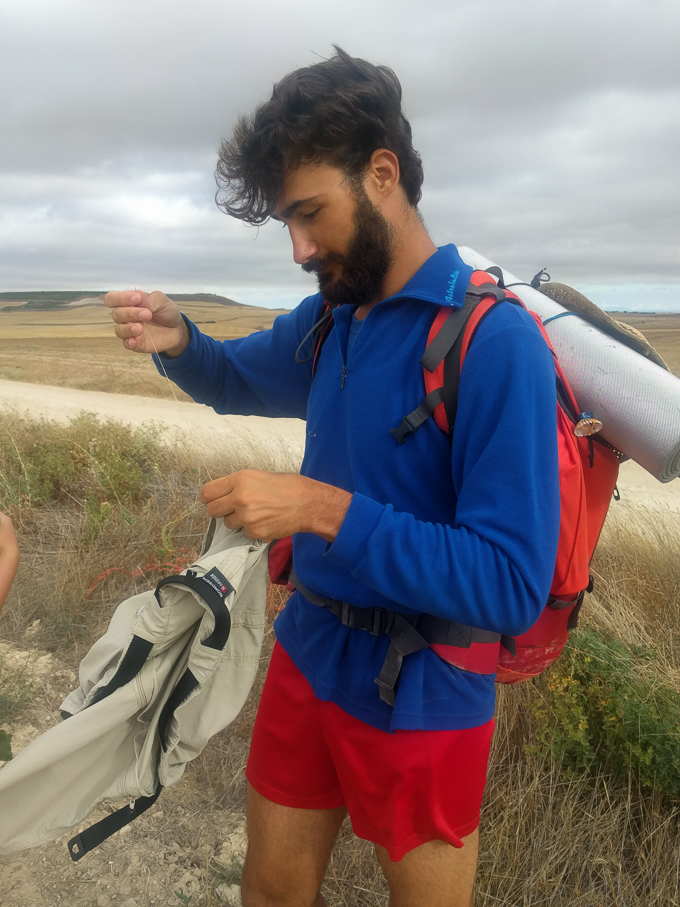 If you only have one pair of pants on The Camino, you must sew them up! | theeverykitchen.com