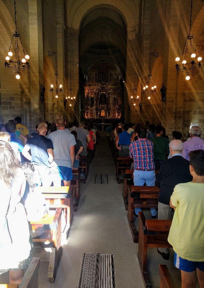 Pilgrim mass in Carrión de los Condes, Camino de Santiago | theeverykitchen.com