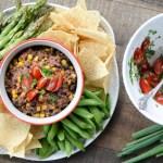 Healthy Black Bean and Corn Dip