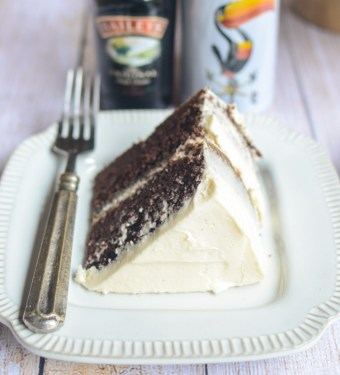 The secret to my recipe for Guinness Chocolate Cake with Bailey's Buttercream is to reduce the stout first to give you a deeply malted and moist crumb. The frosting adds just enough excitement without stealing the show and the end result is a cake you can't resist eating... even for breakfast!   theeverykitchen.com