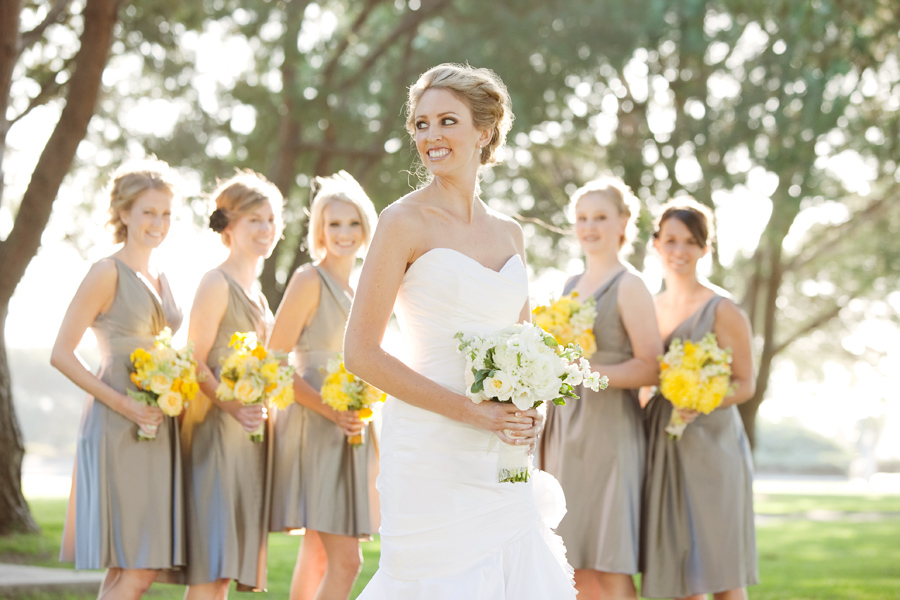 A Yellow And Gray California Wedding