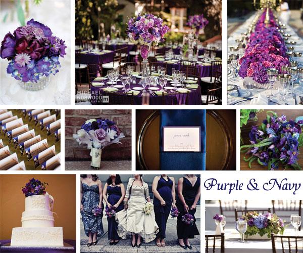 Inspiration Board Purple  Navy  Every Last Detail