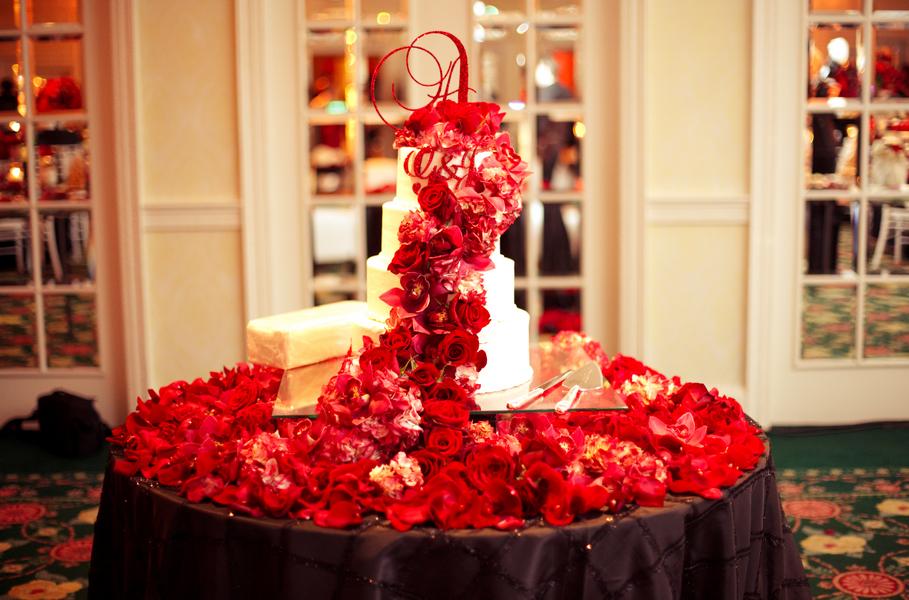 Elegant Red and Black Wedding  Every Last Detail