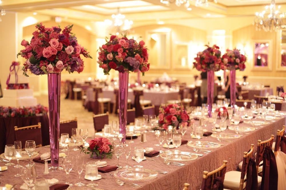 Elegant Purple Ballroom Wedding  Every Last Detail
