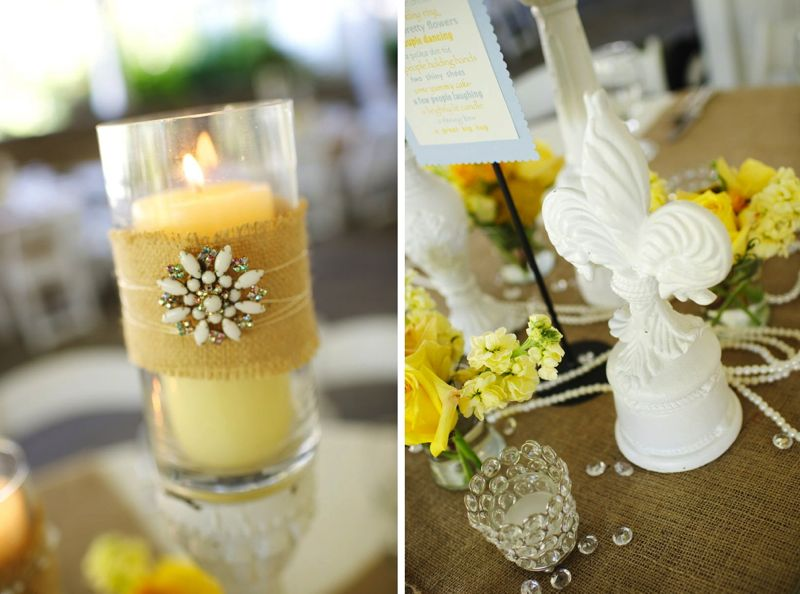 Rustic Chic Yellow Amp Gray Wedding Every Last Detail