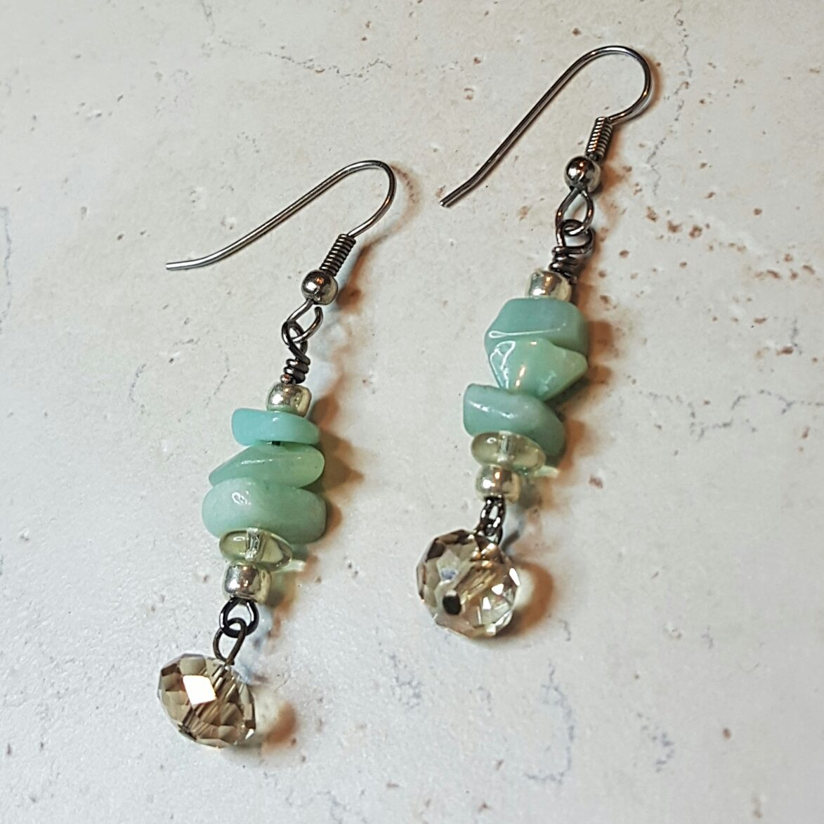 Amazonite Chip Earrings