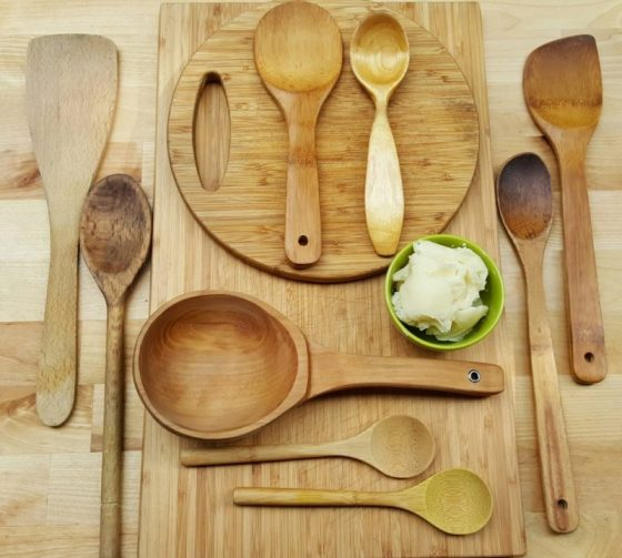wooden spoons & cutting boards