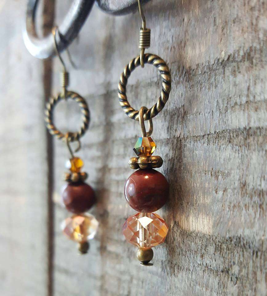 Jasper Crystal Earrings