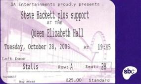 Queen Elizabeth Hall Ticket