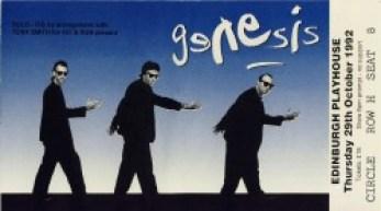 genesis ticket edinburgh PH oct 29th 1992