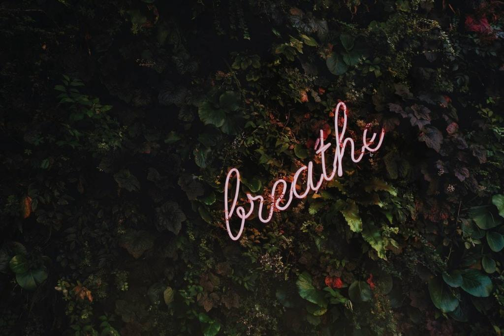 Breathe before reacting