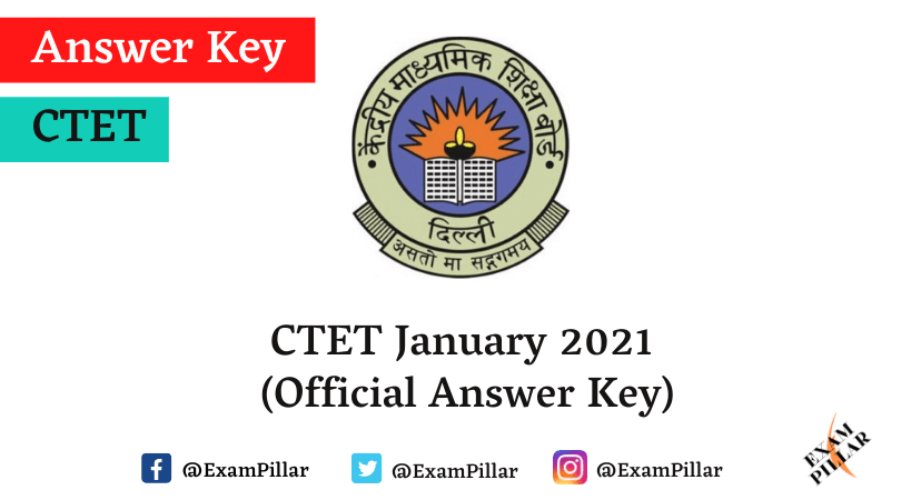 CTET January 2021 Official Answer Key