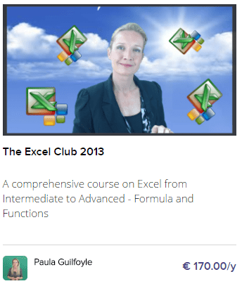 The Excel club 2013