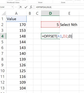 nth Largest in Excel