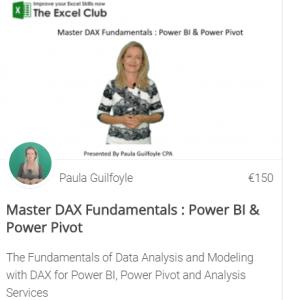 DAX for powerpivot course