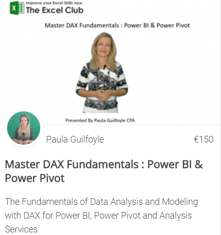 DAX for powerpivot course