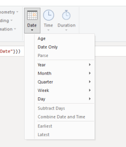 add date columns in power query