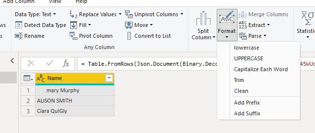 dax data transformations