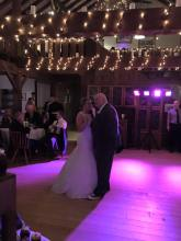 The bride and her dad (my uncle)