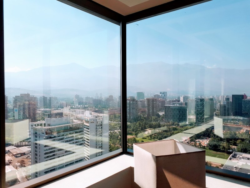 View from most family friendly hotel - Hotel Boulevard Suites, Santiago, Chile