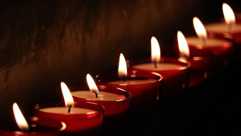 Candles in church - a beautiful place even for atheists