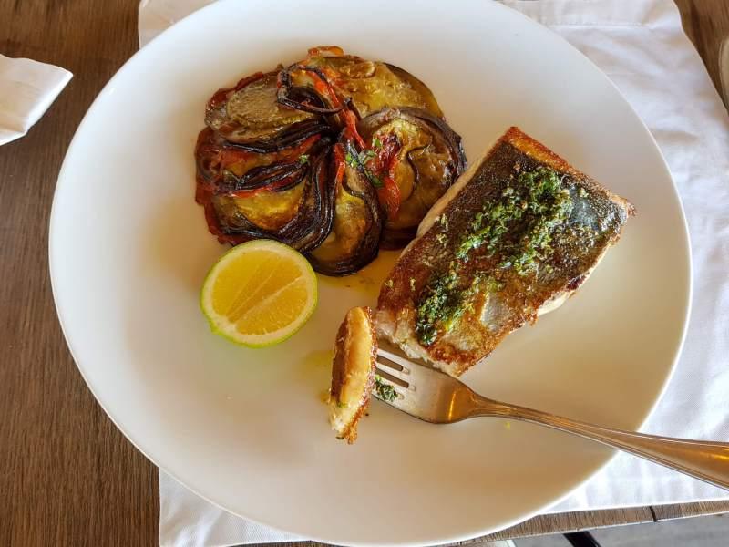 Fuegos de Apalta menu - fish