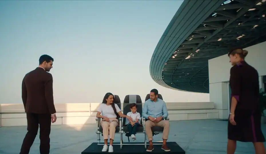Etihad Airways new safety video filmed a the Louvre Abu Dhabi