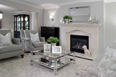 Pleasant View Living Room by The Expert Touch Interior Design