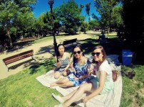 Picnic with the housemates in Ciutadella Park, Barcelona