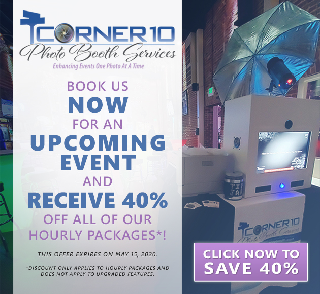 Corner 10 Photo Booth Services Ad