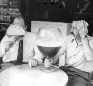 dreams beer hangover vintage black white