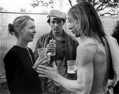 women of the Eye Kate moss with iggy and johnny