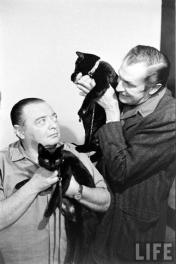 LIFE Peter Lorre and Vincent Price.