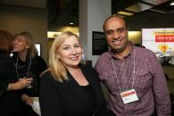 Wendy Cukier and a sponsor, Ali Ebrahim. PHOTO COURTESY: WENDY CUKIER