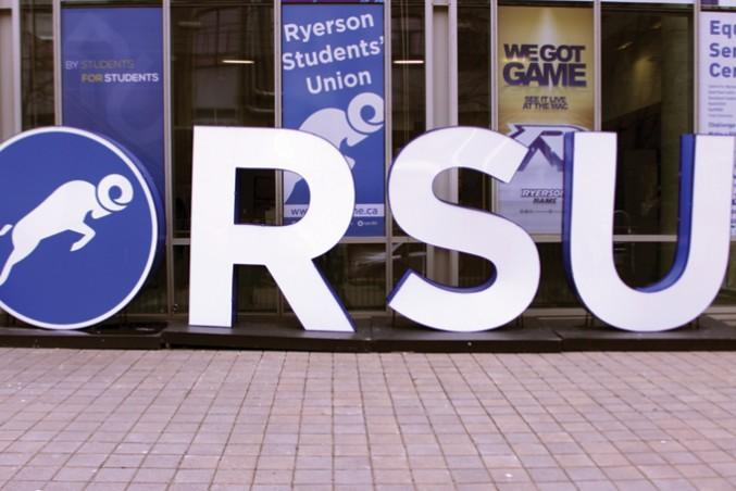Ryerson Students' Union (RSU) logo on campus. FILE PHOTO