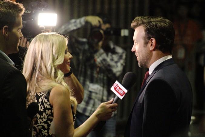 Jason Sudeikis interviewed at TIFF. PHOTO: IZABELLA BALCERZAK