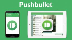 Pushbullet logo on a phone and on a tablet device