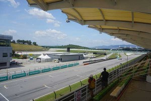 view from ruby grandstand sepang
