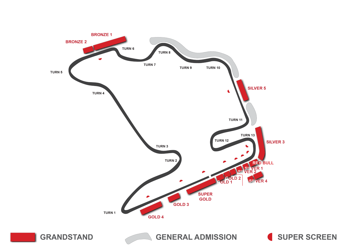 hungaroring grandstand map