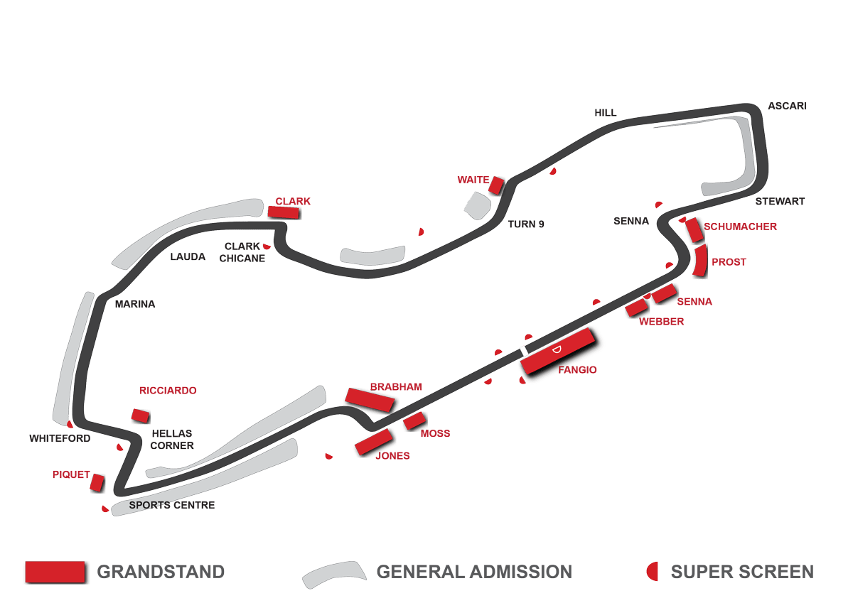 map albert park grandstands