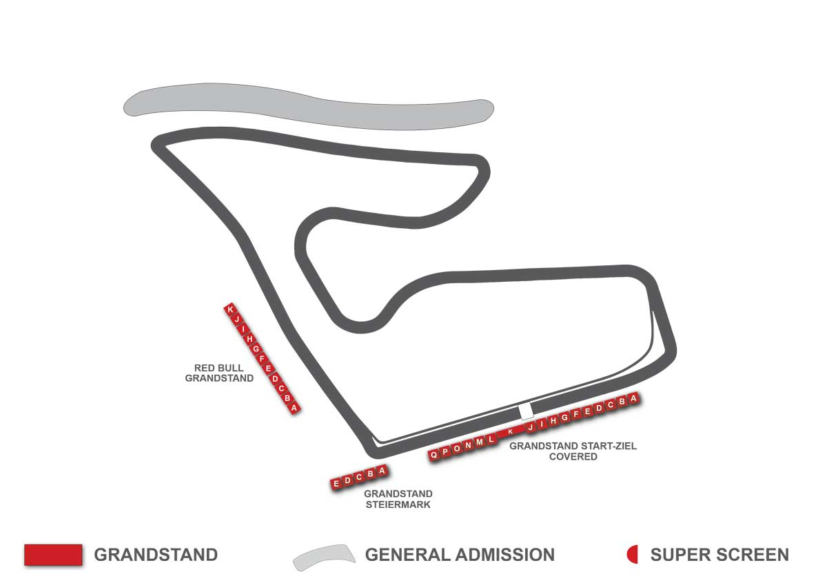 red bull ring f1 grandstand map
