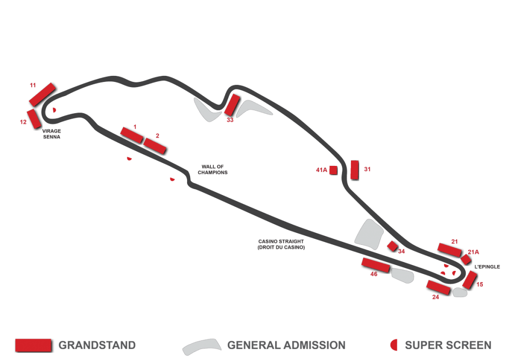 canadian grand prix grandstand map