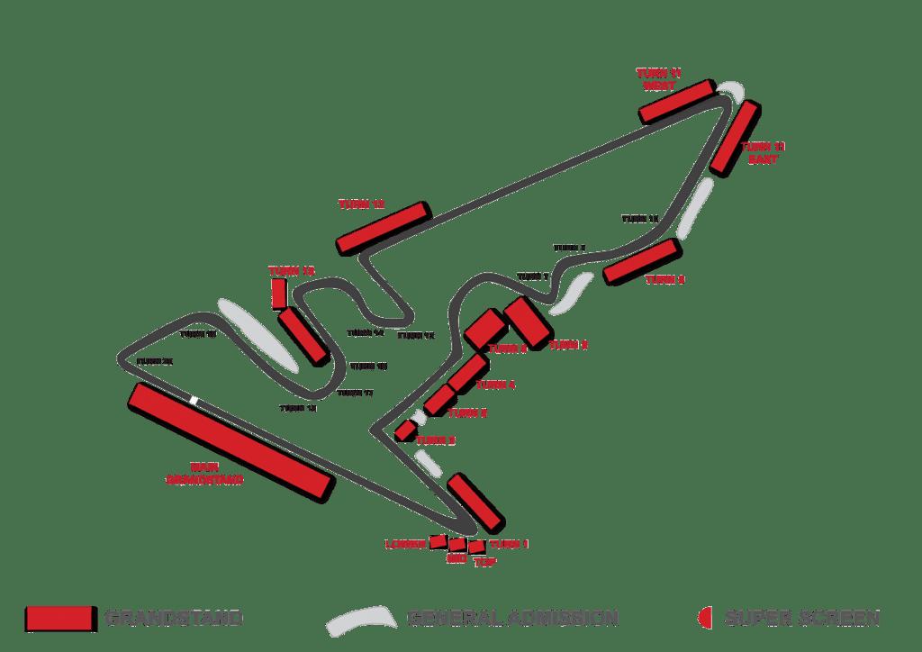 cota grandstand map
