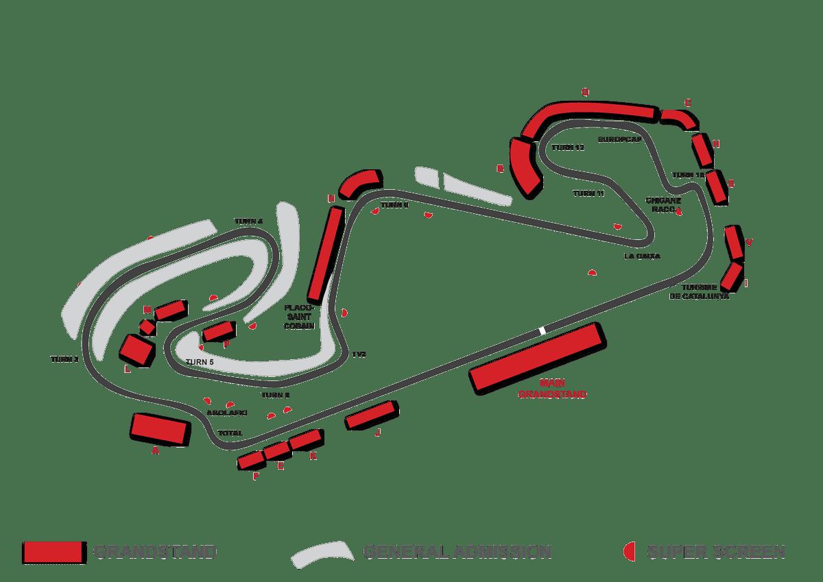 circuit du catalunya grandstand map