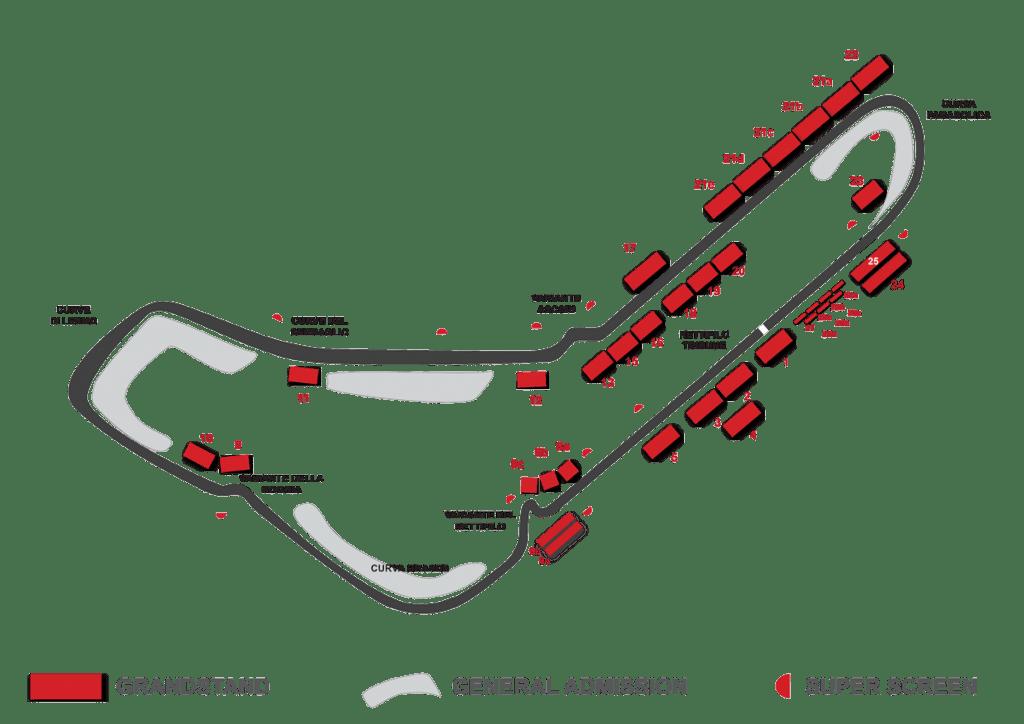 monza circuit grandstand map