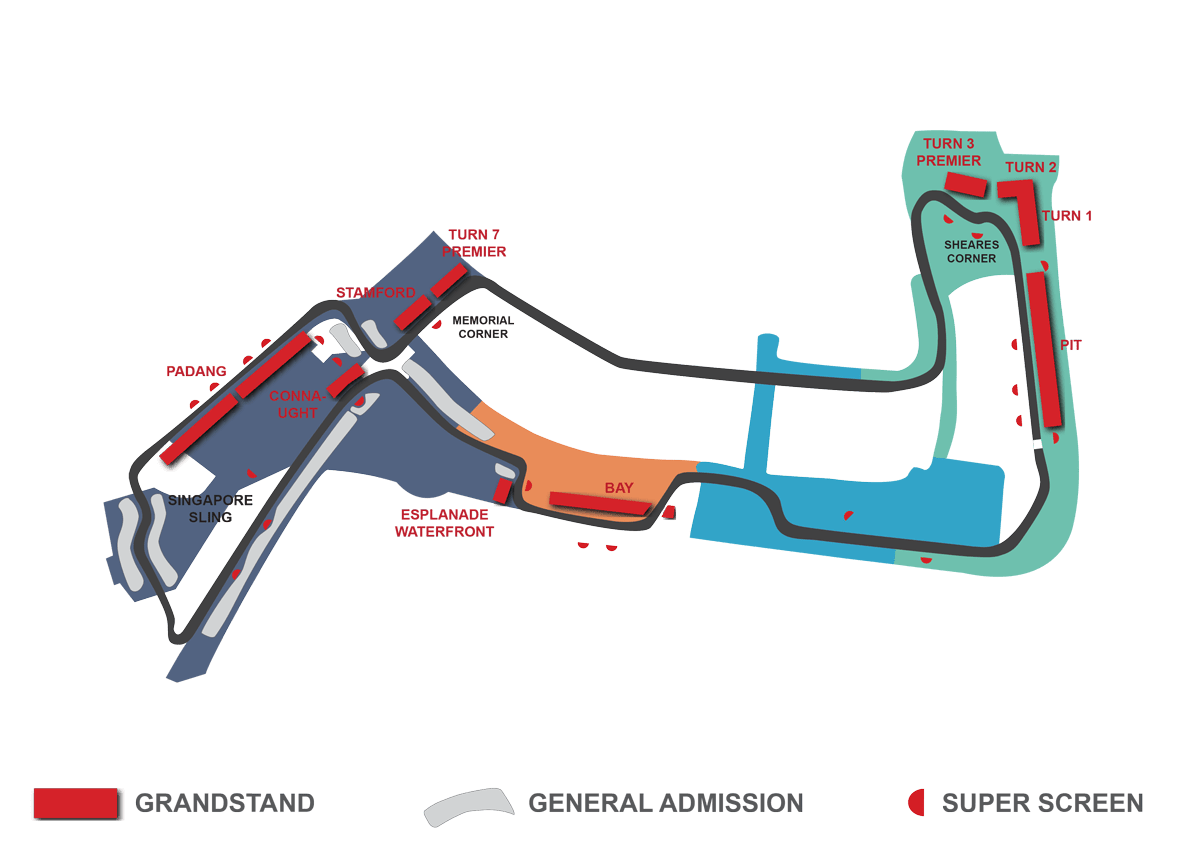 singapore f1 grandstand map