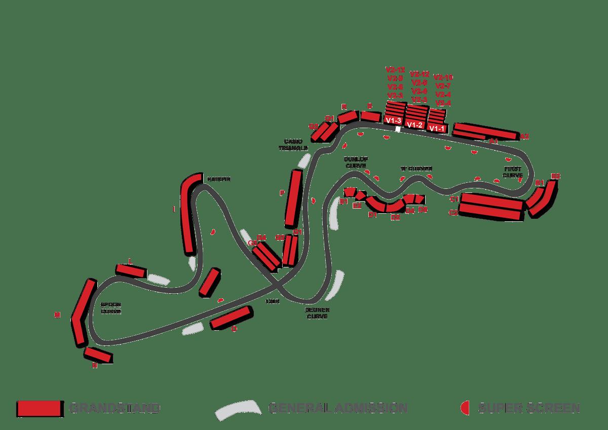 suzuka grandstand map f1
