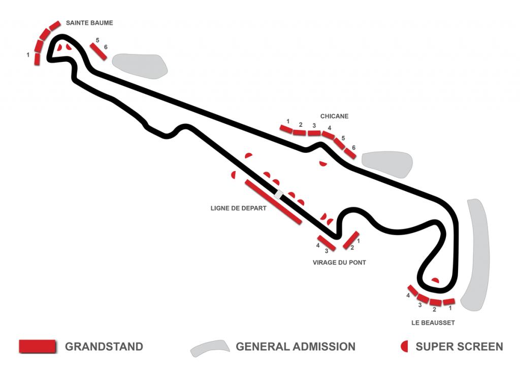 paul ricard grandstand map